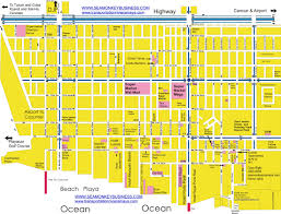 Mexico City Airport Map by Playa Del Carmen Quintana Roo Riviera Maya Map