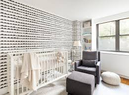 white nursery crib with gray glider and ottoman contemporary