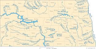 lake sakakawea map map of dakota lakes streams and rivers