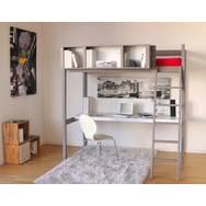 lit mezzanine avec bureau et rangement lits mezzanine enfant et lits bureau pas cher à prix auchan