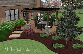 Small Backyard Patio Landscape Ideas A Patio Designed With Shade Patio Designs And Ideas Decks And