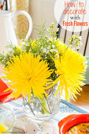 Decorating With Yellow by Decorating With Yellow Flowers 10 Minutes Or Less Four