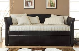 daybed design contemporary living room with snazzy black white futon daybed
