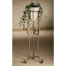 Large Brown Floor Vase Furniture Antique Floor Vase For Home Interior Decorating With