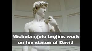 David Sculpture 13th September 1501 Michelangelo Begins Work On His Statue Of