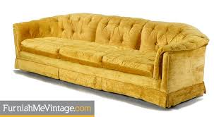 Vintage Tufted Sofa by Yellow Tufted Hollywood Regency Sofa