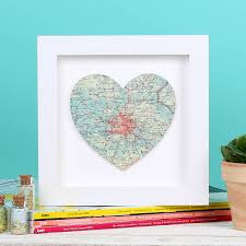 personalised map location heart new home gift 21cm by bombus