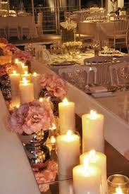 candle runners mirror tiles as table runners beautiful with the candles to