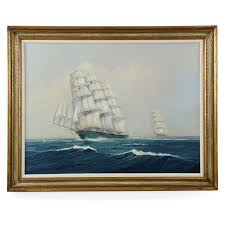 nautical painting earl collins nautical marine oil painting on canvas clipper