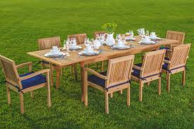 Teak Patio Dining Table New 9 Pc Luxurious Grade A Teak Dining Set 94