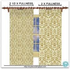 The Curtain Workroom Drapery Fabric Fullness Example Photo Links To Post With Detailed