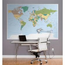 World Map Wallpaper Mural by National Geographic 50 In X 72 In Polar Bears Wall Mural 1 605