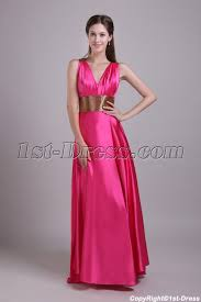 fuchsia with gold evening dress with cross straps img 0747