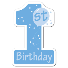 1st birthday boy club pack of 24 blue and white 1st birthday number one cutout boys