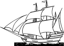 columbus ship coloring