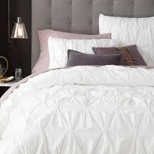 organic cotton pintuck quilt cover pillowcases west elm au