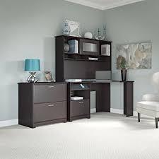 cabot lateral file cabinet in espresso oak amazon com cabot corner desk with hutch and lateral file cabinet