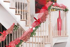 Banister Garland Ideas Top 40 Stunning Christmas Decorating Ideas For Staircase