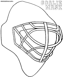 goalie mask coloring pages coloring pages to download and print