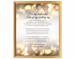 poem from bride to groom on wedding day thank you for being my bridesmaid bridesmaid gifts bridesmaid