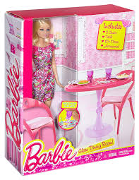 amazon com barbie doll and dining room set toys u0026 games