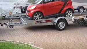 rimorchio porta auto rimorchio trasporto auto basculante ra con smart