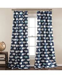 Navy Window Curtains Deal Alert Half Moon 2 Pack Whale Window Curtains 52 X 84