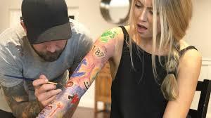 tattoo prank app i gave my wife a tattoo youtube