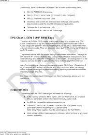alrf800b rfid reader users manual user manual alien technology llc
