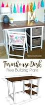 Diy Pallet Computer Desk Picture Charming Retro Home Office by Farmhouse Desk Free Building Plans This Is A Fun And Easy Build