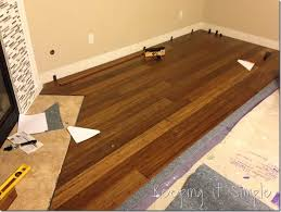 tips on how to install hardwood flooring by yourself bamboo