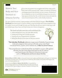 the infertility workbook a mind body program to enhance fertility