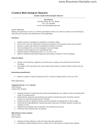sle resume exles sle resume for experienced web designer unforgettable web