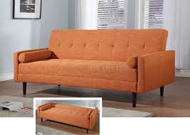 orange fabric contemporary sofa bed convertiblecontemporary fabric