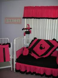 Crib Bedding Set Minnie Mouse Minnie Mouse W Pink And Black Crib Bedding Set