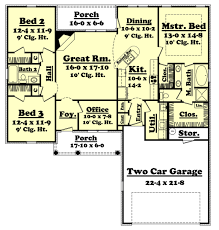traditional style house plan 3 beds 2 00 baths 1700 sq ft plan