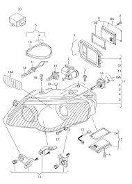 2011 volkswagen magotan china market electrics headlight for