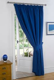 Royal Blue Blackout Curtains Dreamscene Thermal Pencil Pleat Pair Of Blackout Curtains