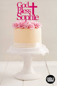 baptism cake toppers personalised god bless religious cake topper birthday