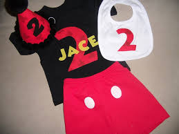 toddler boys 2nd second birthday mickey shirt hat bib and shorts