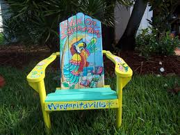 painted chairs images tropical adirondack chair handcrafted hand painted livin u0027 on