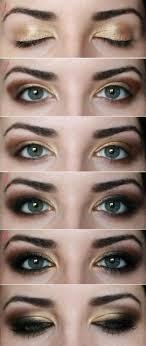 y brown and golden makeup tutorial