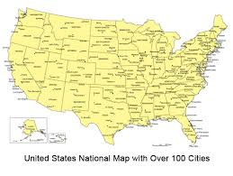 map usa states free printable usa map with cities free map of usa states and cities west coast