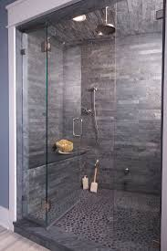 best 20 shower ideas on pinterest showers ensuite meaning and let the this gray shower with interlocking slate tiles rain on your parade