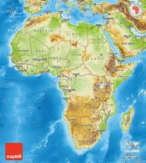 Africa Map by Physical Map Of Africa