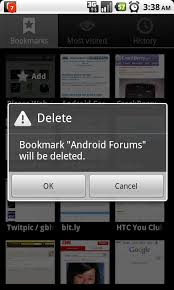 android bookmark widget delete a bookmark android central