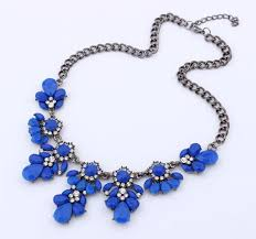 fashion statement collar necklace images Fashion bib choker necklace fluorescence yellow colors crystal gem jpg