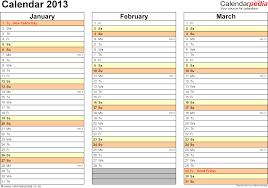 Excel Calendars Templates Excel Calendar 2013 Uk 12 Printable Templates Xls Xlsx Free