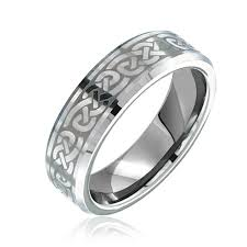 celtic knot ring unisex celtic knot tungsten infinity knot ring 7mm