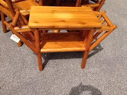 rittenhouse cedar furniture radio table with 2 magazine